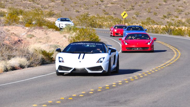 3 Super Cars Red Rock Exotic Driving Tour  (Free Passenger Inlcluded)