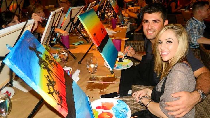 Painting and vino san diego for Rush49 paint nite