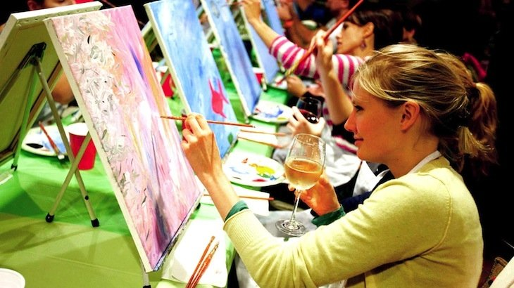 Paint nite new york for Wine and paint indianapolis