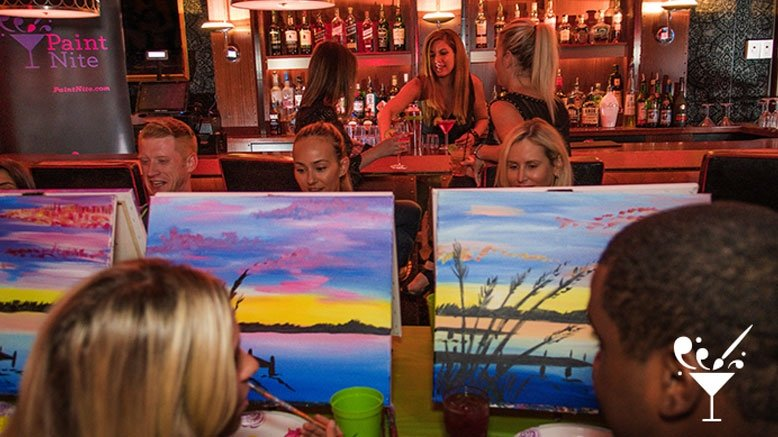 paint nite 44 discount local bar painting events rush49